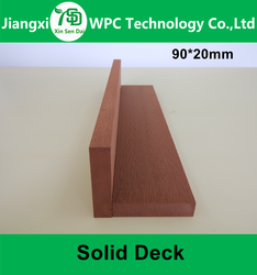 Solid WPC Wood Plastic Composite Bamboo Laminate Flooring Outdoor Decking