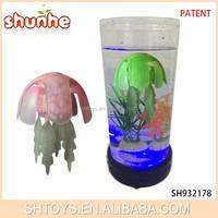 Musical led light electronic robot plant jellyfish aquarium for wholesale