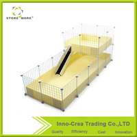 2 Layers Interactive Guinea Pig Habitat Plus Pet Cage With PP Sliding Board