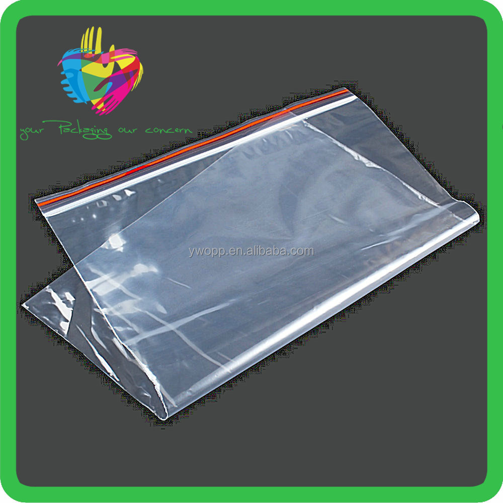 LDPE clear ziplock bag transparent color line ziplock bag