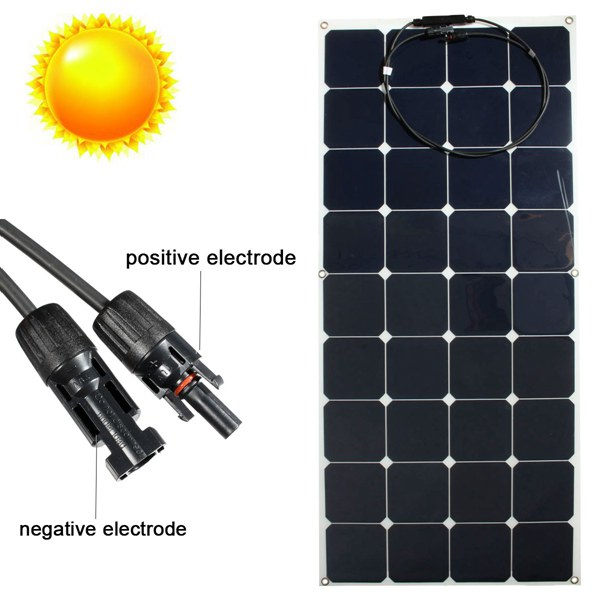 High efficiency Sunpower cell Semi Flexible solar panel 100w 120w 150w