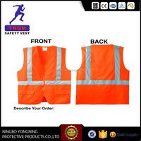 EN ISO 20471 Hi Vis 120gsm Reflective Safety Vest 3M