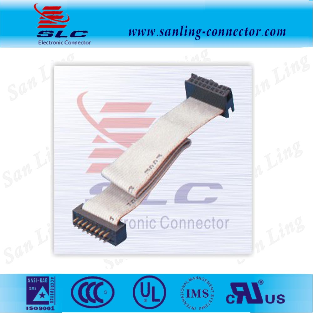 UL Certificate 40 way Strain relief IDC Flat Ribbon Cable