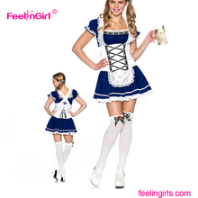 October Fest Beer Girl Cute Mini Dress Sexy French Maid Costume for Oktoberfest
