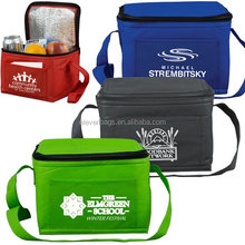 Holds a 6 pack Insulated Lunch Tote lasauce cooler bag