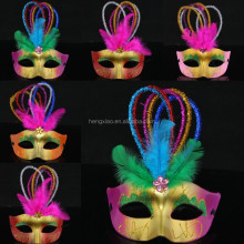 wholesale handicraft masks decorations party masks half face masquerade masks for mardi gras feather masks