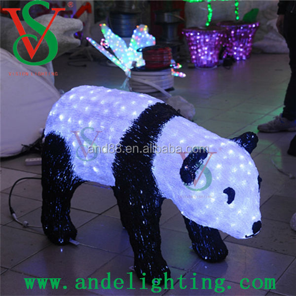 LED 3D sculpture motif light panda decorative animal light