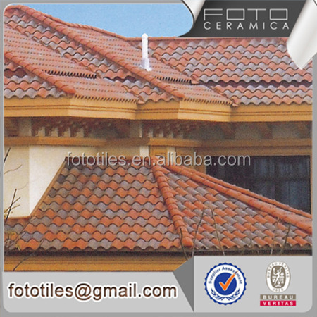 Waterproof spanish purple clay roof tile