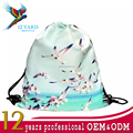 Custom Printed Travel Daypack Hiking Portable Lightweight Drawstring Backpack