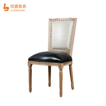 Cheap solid wood structure antique graceful stackable coffee restaurant chair