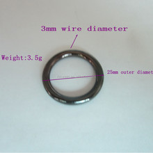 Black Color Metal Loop Curtain Ring For Wholesale With High Quality