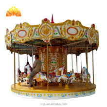 Beautiful carousel horse musical fiberglass carousel horses rides for sale
