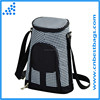 Insulated two wine bottle carrier wine cooler bag