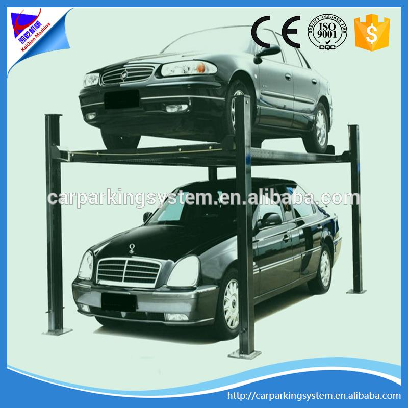 four post 2 level parking system car elevator multi storey lift-sliding stereo garage