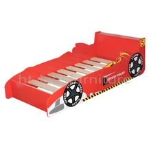 HT-SCSB01 143x77x60/40(H)cm E1 MDF Kids Race Car Bed, Kids Cartoon Bed For Boys Above 3 Years, Kids Car Shape Bed