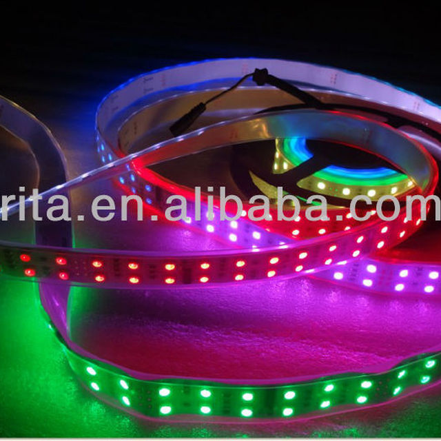 5m DC12V 120leds/m and 10pcs TM1812 ic/meter(40pixels) led digital strip;IP68;waterproof in silicon tube
