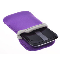 Purple Water Resistant Neoprene Pouch Sleeve Cover for Cell Phone