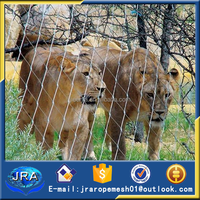 zoo fence,lion cage net with flexible cable mesh