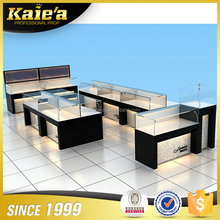 Cheap price Retail shop kiosk glass mobile jewellery counter design