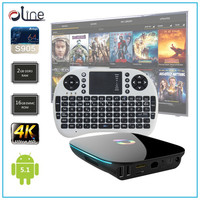 Android 5.1 Amlogic S905 Quad core CPU Q BOX Android tv box tv tuner box for lcd monitor and i8 mini Wireless Keyboard