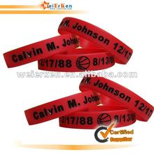 2012 Popular Silicone Wristband for Promotional silicone bracelets with magnetic clasp