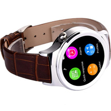 2016 Good Quality Round Touchscreen Smart Watch and Phone MTK 6260 chipset 128MB+64MB RAM Support TF Card Pedometer UV Detection