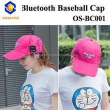 New style bluetooth baseball caps with headphone hat factory sports caps