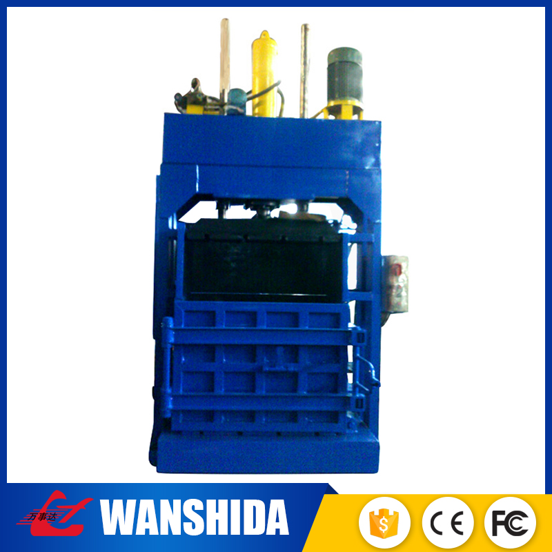 Portable manual vertical hydraulic flax baler machine for waste recycling plant