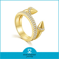 New Arrival Gold Plated Engagement Rings