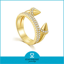 New arrival gold plated engagement rings for women