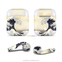 hot sale skin decal wrap for airpod stickers headset charging case self adhesive protective film scratch proof waterproof