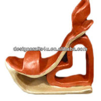 Western Style Heart Shaped Mini Ceramic Shoes