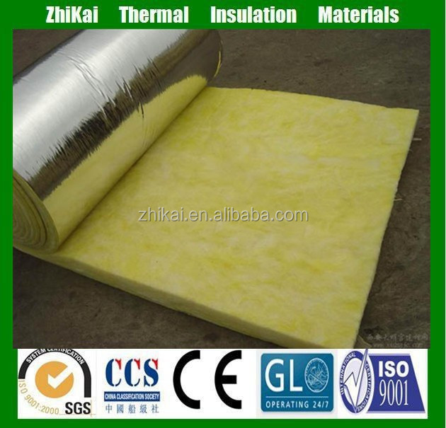 FSK aluminum foil faced insulation soundproof glass wool price