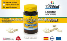 L-Carnitine 450mg 50 Capsules - Food supplement