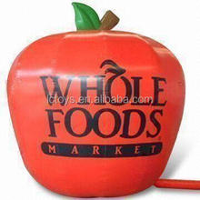 giant inflatable apple advertising red big apple with logo for promotion