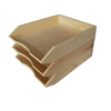 Wholesales in china handmade cheap solid pine A4 paper plain wood desk organiser