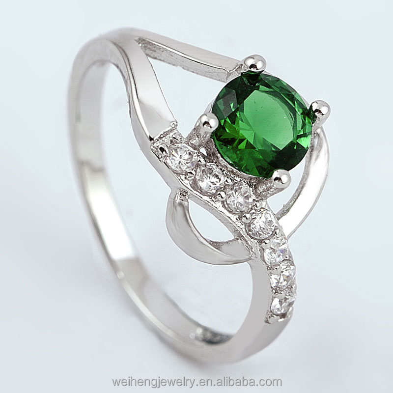 wholesale ladies body jewelry 925 sterling silver emerald cut diamond engagement rings