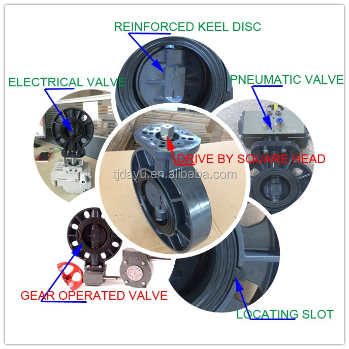 factory low price pvc butterfly valves worm gear type good for irrigation