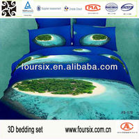 2014 3D ocean scenery bedding set,wholesale comforter sets bedding,100% cotton printed reactive
