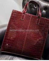 China Alibaba 2014 New Korean Fashion Vintage Designer Leather Shoulder Tote Bag