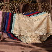 OEM Service Sexy Female Mid-waist Lace Panties / Woman Underwear