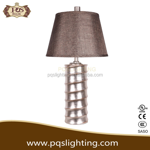 SIlver hand painted thread table lamp for living room