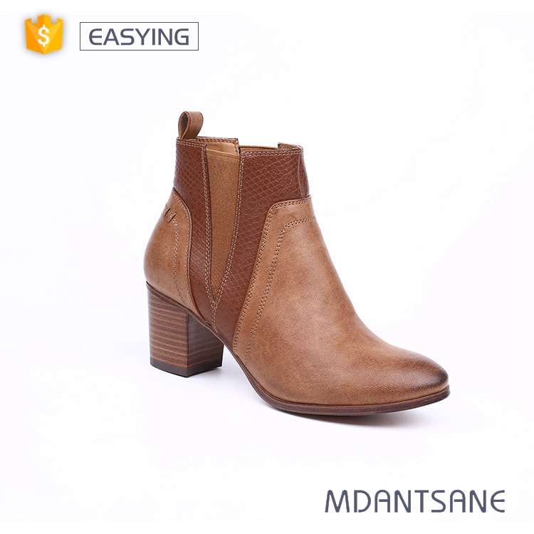 Fashion comfortable winter ladies shoes high heels, ankle boots