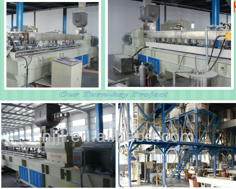 Twin screw hot melt adhesive underwater pelletizing extruder