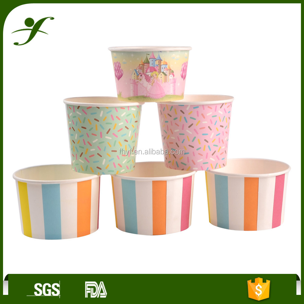 8oz single wall printed paper baking desert cup