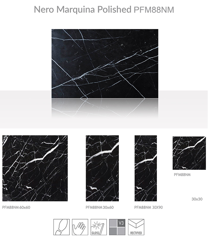 wholesale black marble with white veins good price nero marquina Chinese marble tile