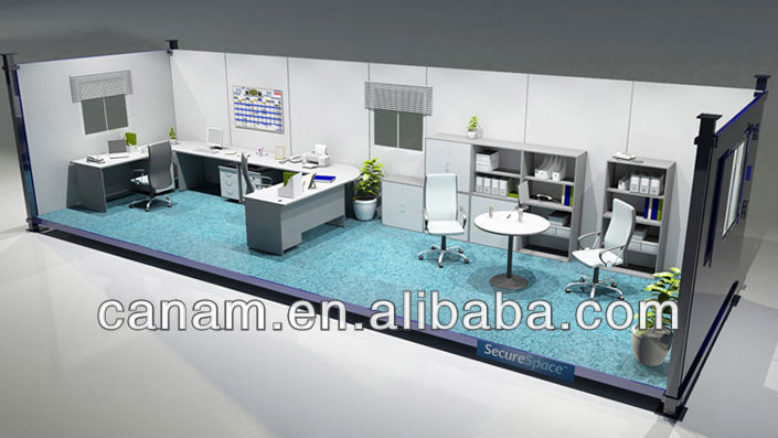 Movable prefabricated modular container office
