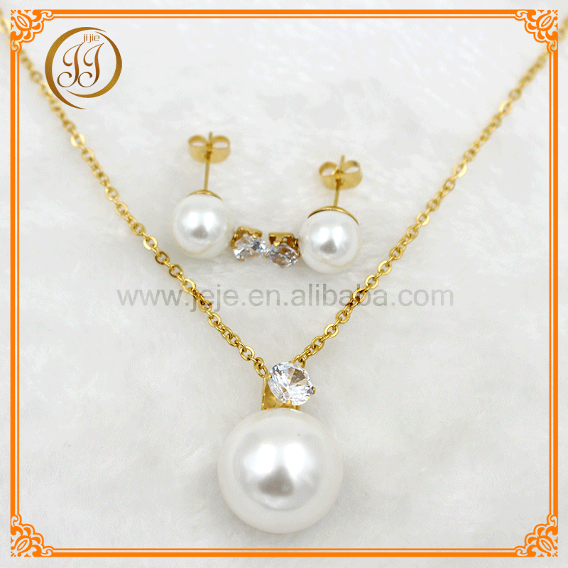 China manufaturers direct fashion artificial pearl necklace set for ladies