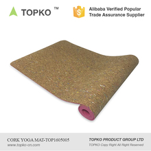 2016 TOPKO Wholesale New Product Anti-Slip Double Layers Recycled TPE / Cork Yoga Mat