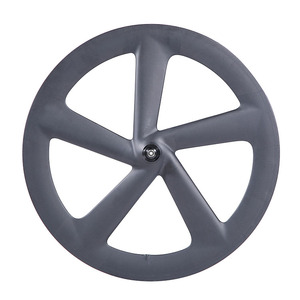700C carbon fiber Fixed Gear 5 spoke carbon wheel 23mm Width